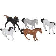 10 Figurines Chevaux (4,5 cm) - Plastique
