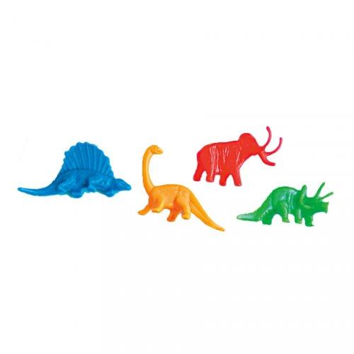 12 Figurines Dinosaures Couleurs Néon (5 cm)
