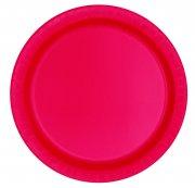 8 Petites Assiettes Rouge