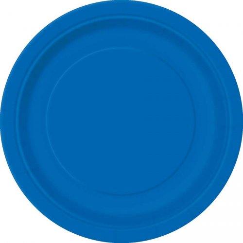 8 Assiettes Bleu Océan