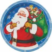 8 Petites Assiettes Père Noël