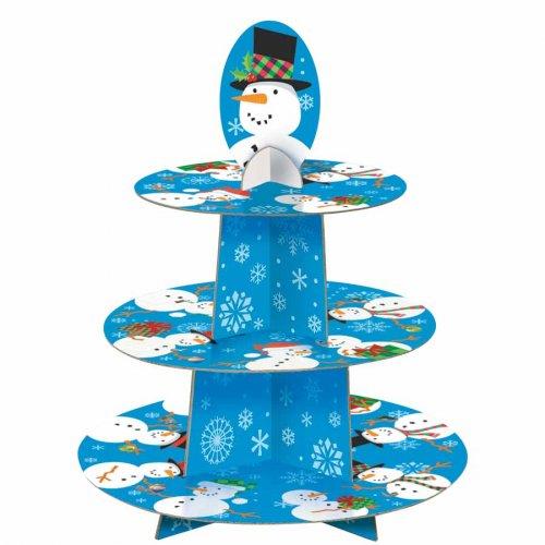 Présentoir à Cupcakes Bonhomme de neige