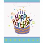 8 Pochettes � Cadeaux G�teau Happy Birthday