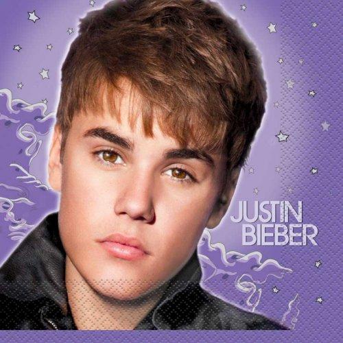 16 serviettes Justin Bieber