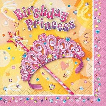 16 Serviettes Birthday Princess