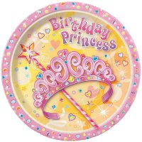 Contient : 1 x 8 Assiettes Birthday Princess