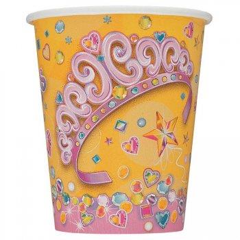 8 Gobelets Birthday Princess