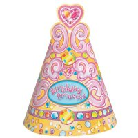 Contient : 1 x 8 Chapeaux Birthday Princess