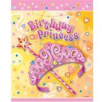 Contient : 1 x 8 Pochettes à cadeaux  Birthday Princess