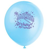 Contient : 1 x 8 Ballons Birthday Princess