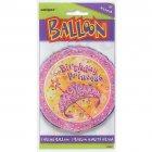 Ballon Mylar Birthday Princess