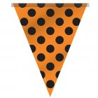 Guirlande Fanions à Pois Noir/Orange