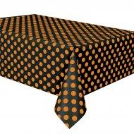 Nappe à Pois Noir/Orange