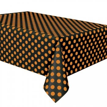 Nappe à Pois Noir/Orange