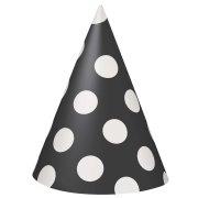8 Chapeaux à Pois Noir/Blanc