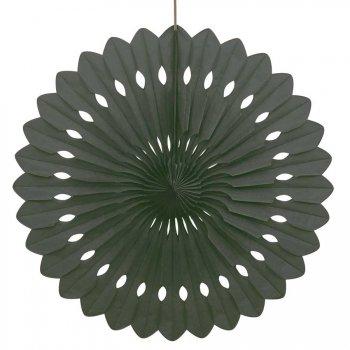 1 Eventail Déco Noir (40 cm)