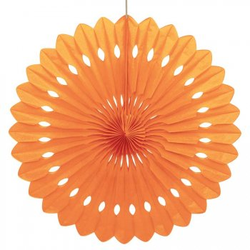 1 Eventail Déco Orange (40 cm)