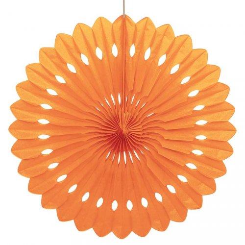 1 Eventail Déco Orange (40 cm)