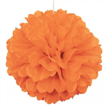 Boule Papier Froufrous Orange