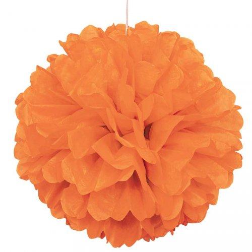 Boule Papier Froufrous Orange