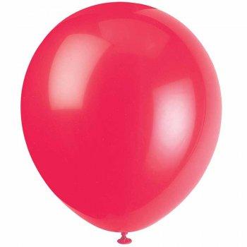 10 Ballons rouges qualité Hélium