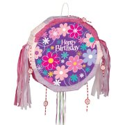 Pull Pinata dépliable Happy Birthday Flower