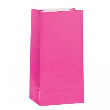 12 Sacs papier Rose fuschia