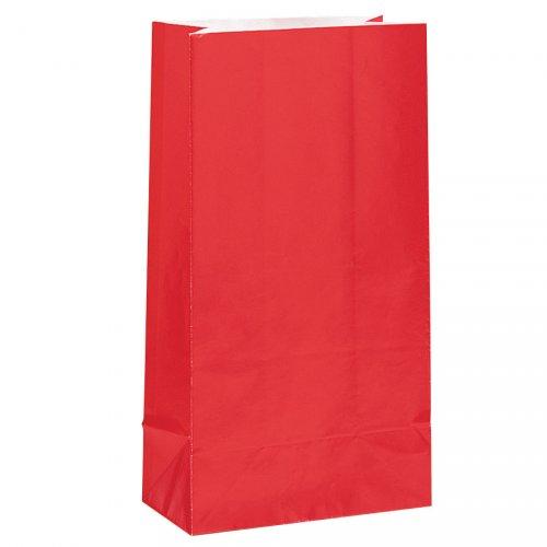 12 Sacs papier Rouge