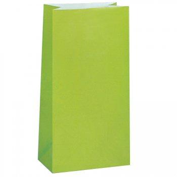 12 Sacs papier Vert