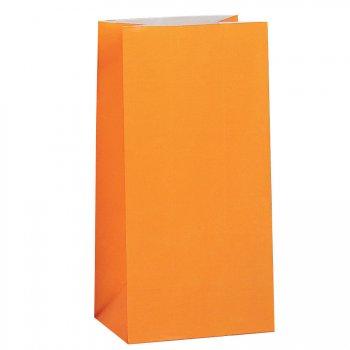 12 Sacs papier Orange