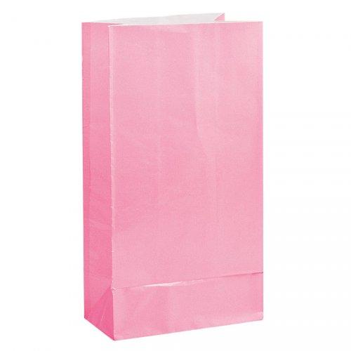 12 Sacs papier Rose pastel