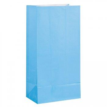 12 Sacs papier Bleu ciel