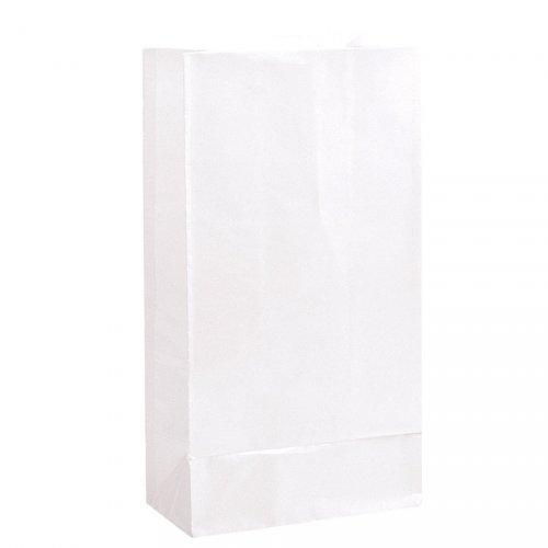 12 Sacs papier Blanc