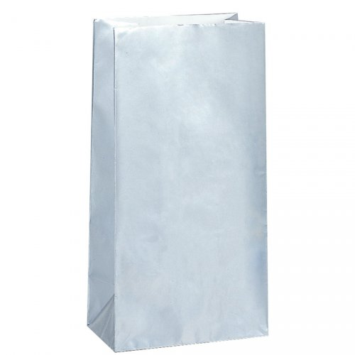 10 Sacs papier Argent