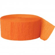 Rouleau de ruban crépon orange