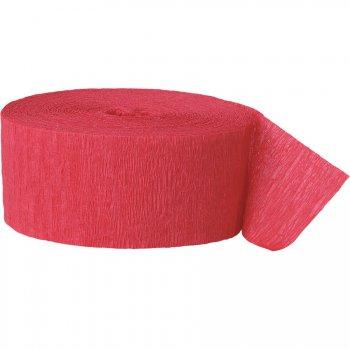 Rouleau de ruban crépon rouge