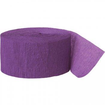 Rouleau de ruban crépon violet