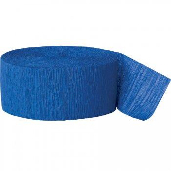Rouleau de ruban crépon bleu