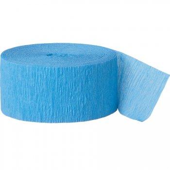 Rouleau de ruban crépon bleu ciel
