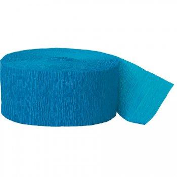 Rouleau de ruban crépon Bleu turquoise