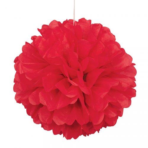 Boule Papier Frou-frou Rouge