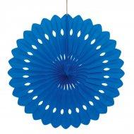 1 Eventail Déco Bleu (40 cm)