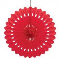1 Eventail Déco Rouge (40 cm)