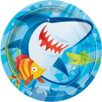Contient : 1 x 8 Assiettes Requin et ses amis