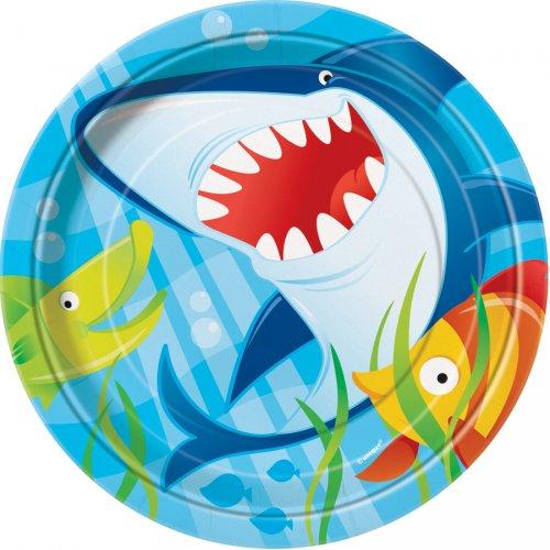 8 Petites assiettes Requin et ses amis