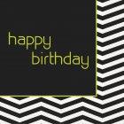 16 Serviettes Birthday Design