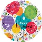 8 Assiettes Happy Birthday Ballons