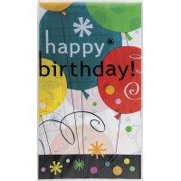 Contient : 1 x Nappe Happy Birthday Ballons
