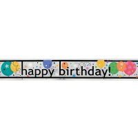 Contient : 1 x Bannière Happy Birthday Ballons