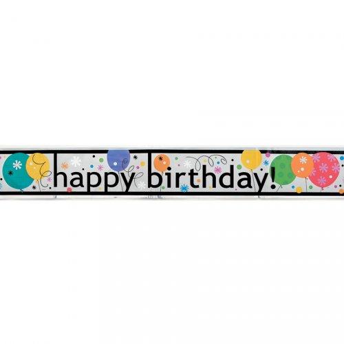 Bannière Happy Birthday Ballons